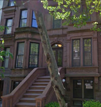 brownstone from A&E NYC filming